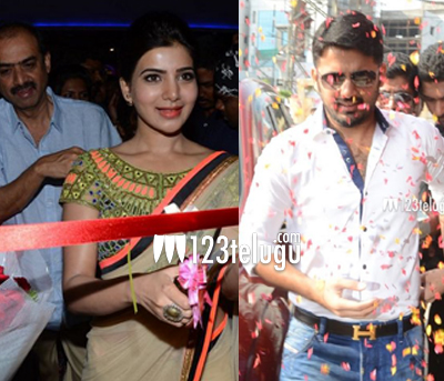 Samantha and Nithiin inaugurate new multiplex