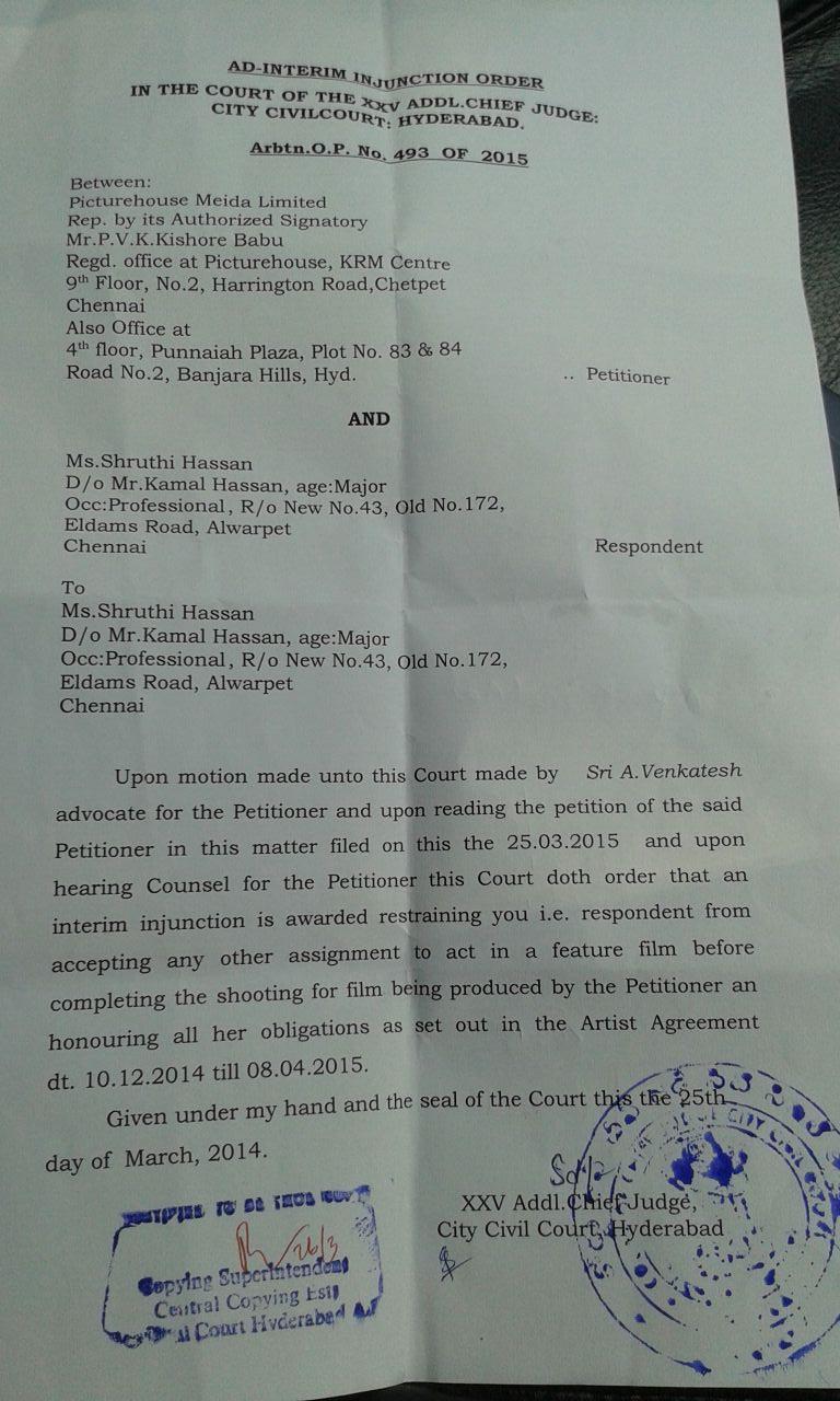 Shruti Court Order