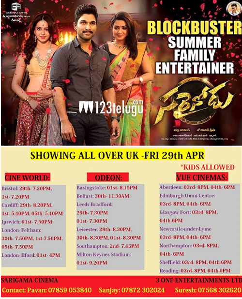 sarrainodu-second-week-sche