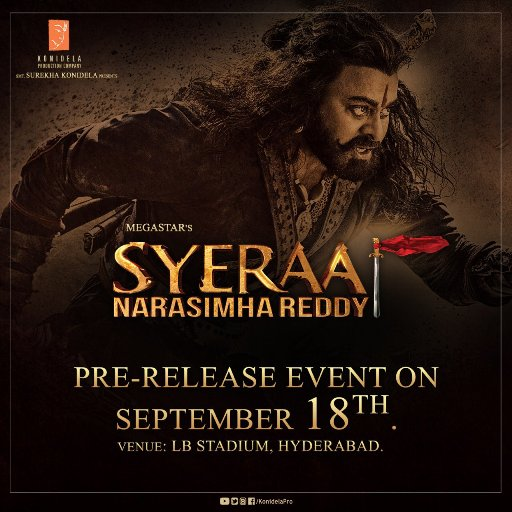 Sye Raa Pre Release Event