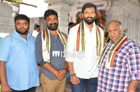 Gopichand's new film with senior producer launched