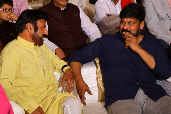 Viral-Chiru-Blalakirshna in deep discussion