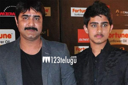 Senior hero's younger son makes debuts in movies