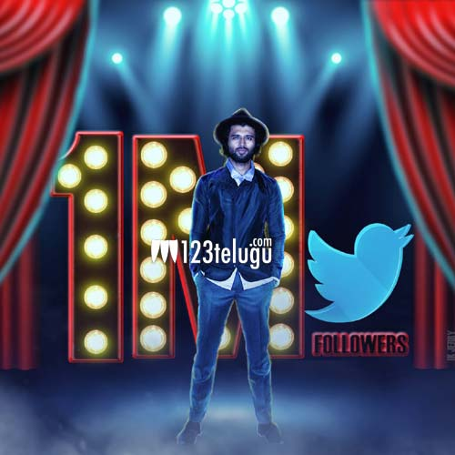 1 million Twitter followers for Vijay Deverakonda