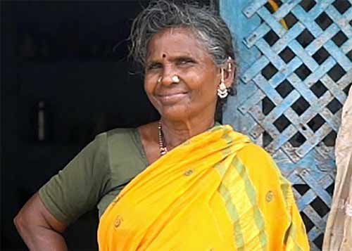 Gangavva has special visitors at her home