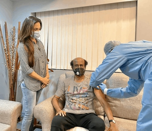 Post Annaatthe shoot, Rajini gets vaccinated