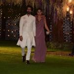 Shahid Kapoor with his wife at Ambani house