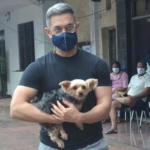 Aamir Khan snapped at pet clinic in Andheri