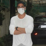 Akshay Kumar snapped at a dubbing studio in Juhu