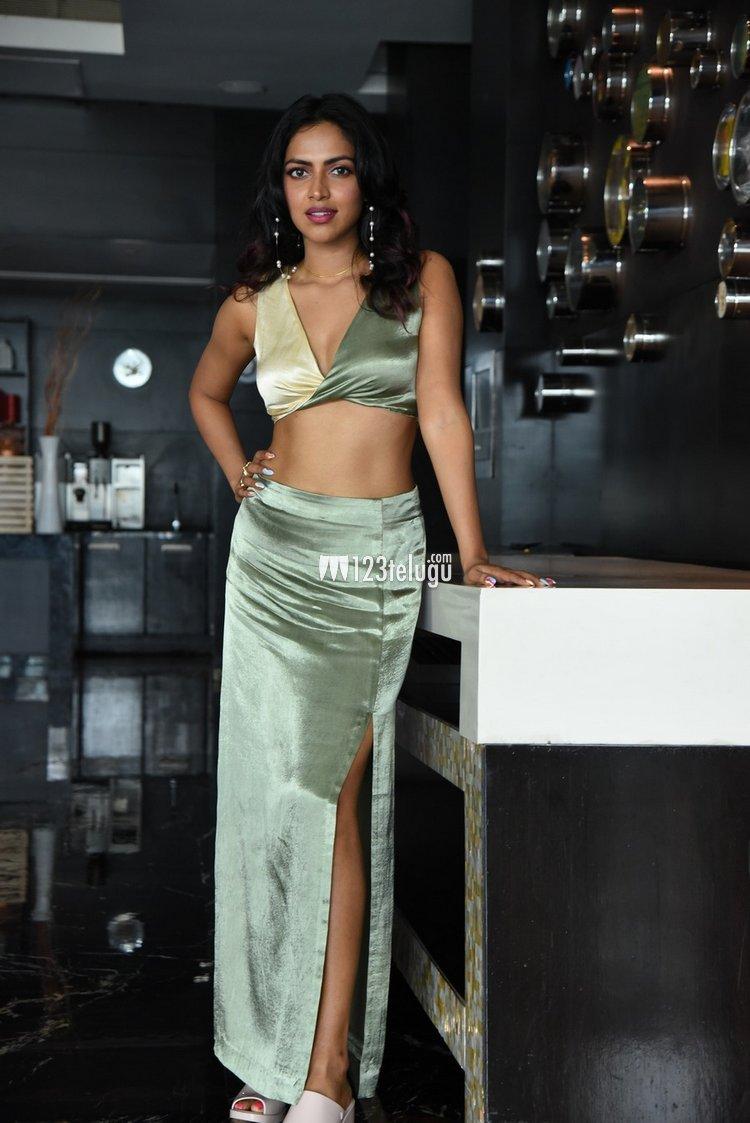 Amala Paul in Hyderabad for Kudi Yedamaithe promotions